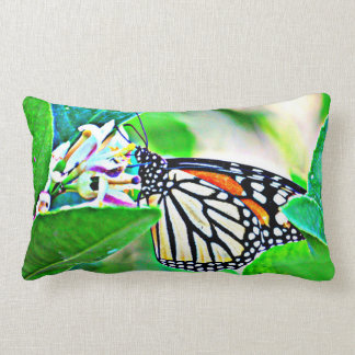 Sonoran Monarch Butterfly Lumbar Polyester Pillow