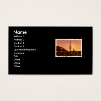 sonoran sunset buisness card