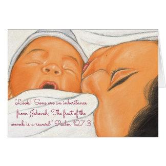 Sons Inheritance-Reward~Scripture~Baby Card