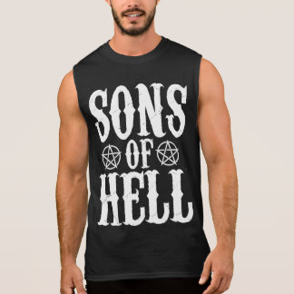 Sons OF light Hail Satan 666 Pentagram - Tanktop Sleeveless Shirt