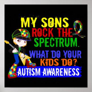 Sons Rock The Spectrum Autism Poster