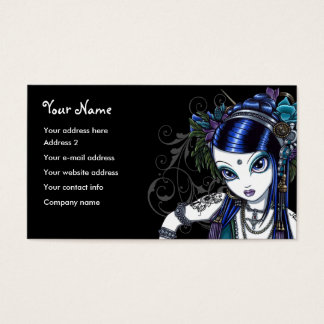 """Sonya"" Tribal Fusion Belly Dancer Business Cards"