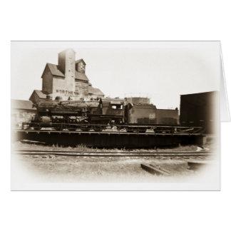 Soo Line Locomotive at Manitowoc on Turntable Card