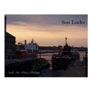 Soo Locks & Herbert C. Jackson post card