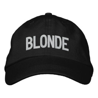 Sooled Blonde Embroidered Hat