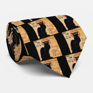 """Soon and the Black Cat Tour by Rodolphe Salis"" Tie"