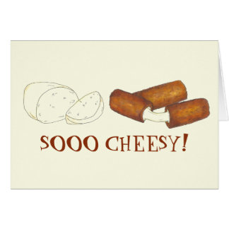 SOOO CHEESY Fried Mozzarella Cheese Sticks Foodie Card