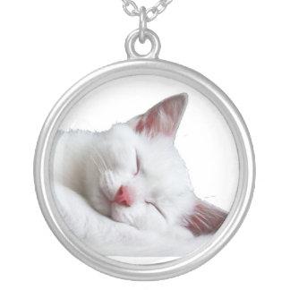 sooooooooooooooo sleepy silver plated necklace