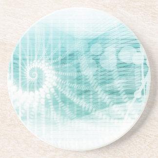 Soothing Aquatic Coral Blue Sea Beverage Coaster