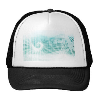 Soothing Aquatic Coral Blue Sea Trucker Hat