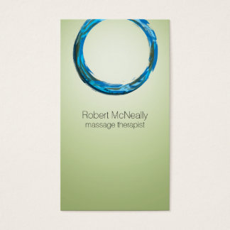 Soothing Green and Blue Business Cards