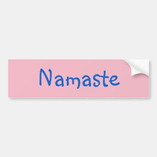 Soothing Namaste Peace Love Pink Bumper Sticker