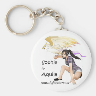Sophia and Aquila - from Wielders book series Key Ring