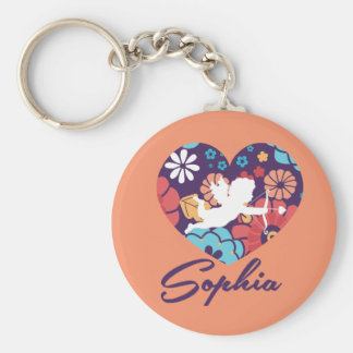 Sophia Basic Button Key Ring Basic Round Button Key Ring