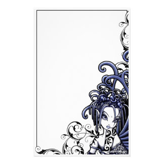 """Sophia"" Blue Tattoo Fairy Art Stationery"