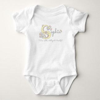 Sophia girls name meaning monogram romper baby bodysuit