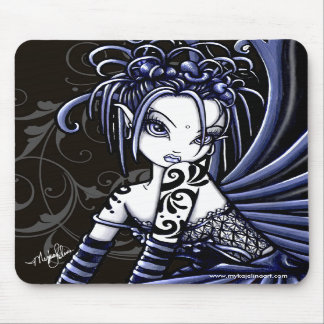 """Sophia"" Gothic Blue Tattoo Fairy Mousepad"