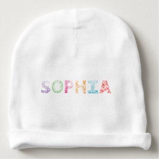 Sophia Letter Name Baby Beanie