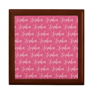 Sophia - Modern Calligraphy Name Design Large Square Gift Box