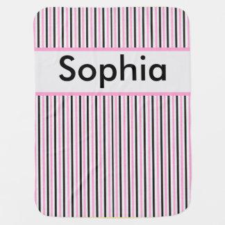 Sophia's Personalized Stripe Blanket