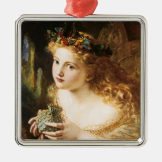 "Sophie Anderson's ""Take the Fair Face of Woman"" Silver-Colored Square Decoration"