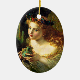 Sophie Gengembre Anderson: Take the Fair Face ... Ceramic Oval Decoration
