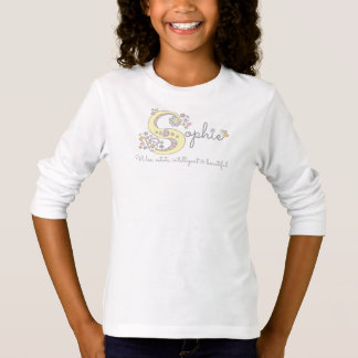 Sophie girls S name meaning monogram tee