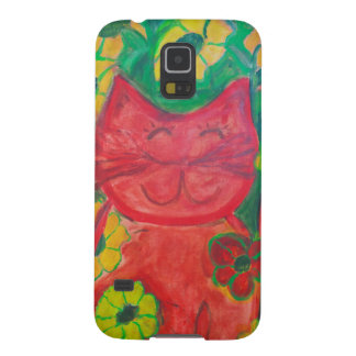 Sophie the Green Happy Cat Case For Galaxy S5