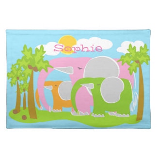 Sophie the Pink Elephant Cotton Placemat