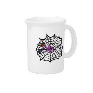 Sophie the Spider caught in her web Drink Pitcher
