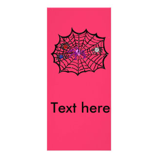 Sophie the Spider caught in her web Personalized Rack Card