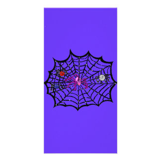 Sophie the Spider caught in her web Photo Greeting Card