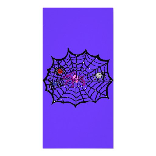 Sophie the Spider caught in her web Customized Photo Card