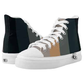 Sophisticated and Calm Stripes Print High Tops