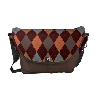 Sophisticated Argyle Baroque Tones on Tan Courier Bags