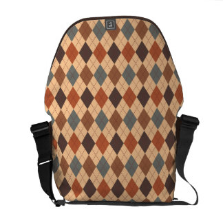 Sophisticated Argyle Baroque Tones on Tan Commuter Bags
