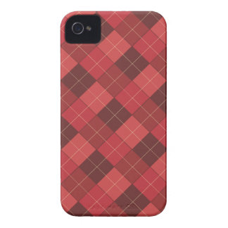 Sophisticated Argyle in Red, Red, Red Case-Mate iPhone 4 Case