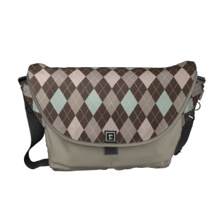 Sophisticated Argyle in Subtle Pastel Brown Commuter Bags