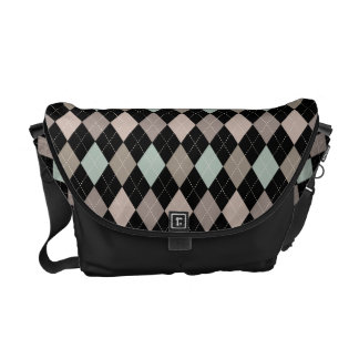 Sophisticated Argyle in Subtle Pastel Messenger Bag