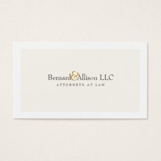 Sophisticated Attorney Off White Business Card