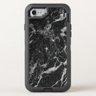 Sophisticated Black Marble Abstract Pattern OtterBox Defender iPhone 8/7 Case