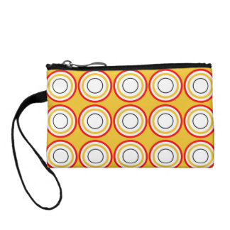 Sophisticated Circles Design Coin Wallets