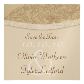 Sophisticated Damask Save the Date Invitation
