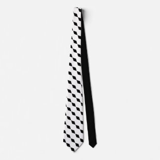 Sophisticated Elegance  Black Diamond Motif Tie