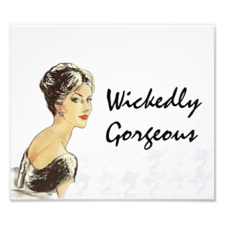 Sophisticated Fashion Image Wickedly Gorgeous Photo Print