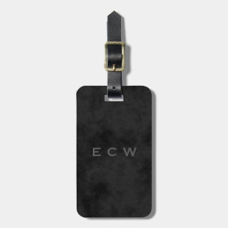 Sophisticated Faux Stamped Mottled Black Tags For Bags