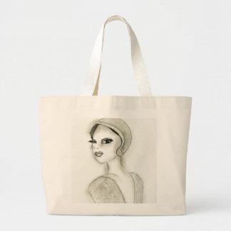 Sophisticated Flapper Jumbo Tote Bag