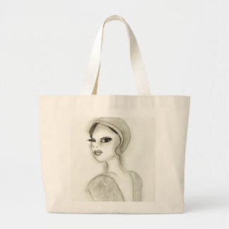 Sophisticated Flapper Large Tote Bag