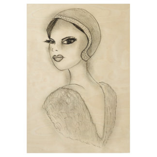 Sophisticated Flapper Wood Poster