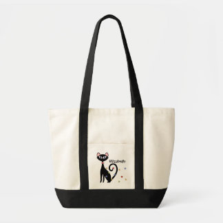 Sophisticated Kitty Tote by SRF Canvas Bag